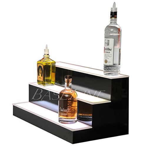 24'' 3 Step Lighted Liquor Bottle Display Shelf with LED Color Changing Lights by L.E.D. Baseline, Inc. (Image #1)