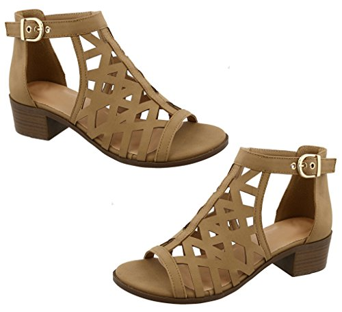 for Colors Strappy Block Women Sundress TravelNut Tan Assorted Sandals Heel Gladiator Sale to Juliette School Back wxwSqPX6T