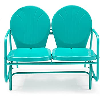 Coral Coast Vintage Retro Outdoor Glider Loveseat