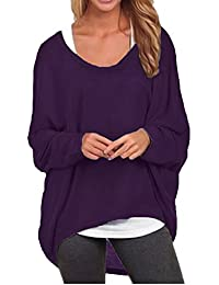 Women's Sexy Long Batwing Sleeve Loose Pullover Casual...