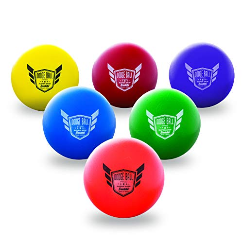 Franklin Sports Dodgeball Ball Set - Superskin-Coated Foam Balls for Playground Games - Small Dodgeballs for Gymnasium Games - Easy-Grip Foam Balls - Won't Shred or Tear for Hours of Fun