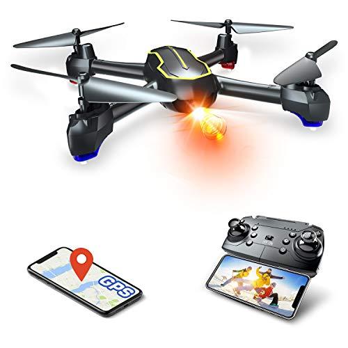 Asbww | Dron GPS con Camara Full HD 1080p para Principiantes - Drone Cuadricoptero RC con Retorno Automatico / Fotos y Video HD 1080p / Transmision en Tiempo Real FPV