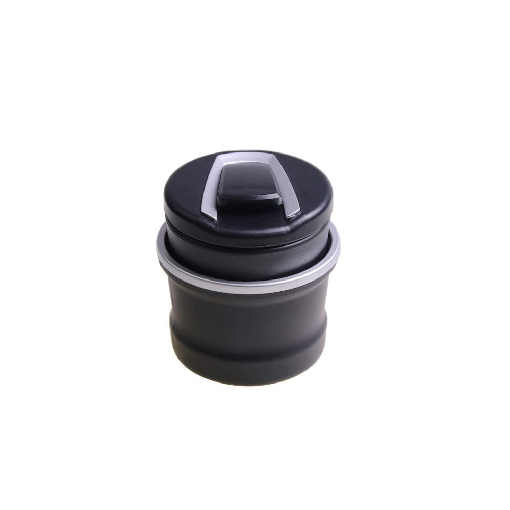 Ogquaton Posacenere LED per Auto Senza Fumo Staccabile e Portatile per Auto Universale Posacenere Auto Cup of (Nero)