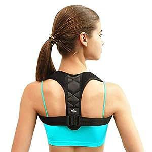 Corrector de Postura - Pesoo Corrección de la Postura de Espalda para Mujeres, Hombres y Adolescentes Alivio del Dolor de Hombros, Cuello Ajustable y Cómodo Dispositivo de Soporte para Clavícula de la Parte Superior de la Espalda - Tamaño Ampliado