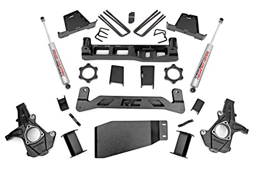 Rough Country - 264.22 - 7.5-inch Suspension Lift Kit w/ Performance 2.2 Shocks for Chevrolet: 07-13 Silverado 1500 4WD; GMC: 07-13 Sierra 1500 4WD