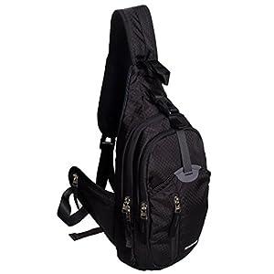 WASING Military Sport Pack Shoulder Sling Backpack Men Women Chest Gym Bag,Rover Sling Pack Chest Pack WS-ChestPack-black