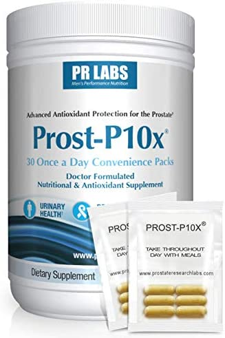 PR Labs – Prost-P10x Prostate Supplement for Men – Urologist-Formulated Natural Prostate and Urinary Health Support – Graminex – Quercetin Pollen – Meriva Curcumin – Pygeum – Beta-Sitosterol – 1 Pack