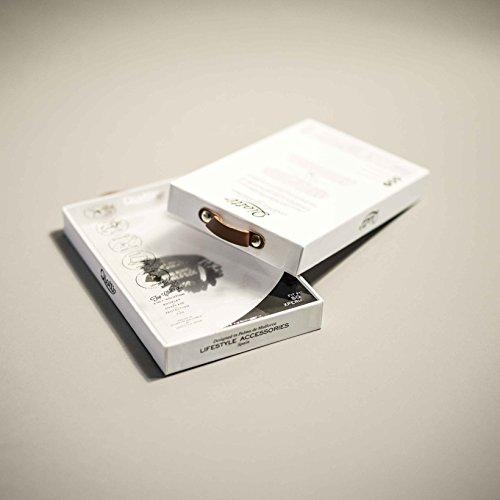 QIOTTI Q. Book Denim Premium Étui Livret en cuir véritable pour Samsung Galaxy Note 5–Gris Line