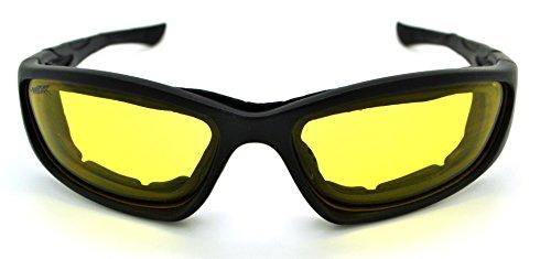 Vertx léger rembourré pour homme et pour femme Moto Goggle Lunettes de soleil W/étui microfibre gratuit - - CG5Y0F