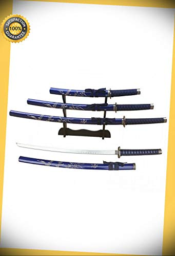 et with Stand 39.5'' Katana 30'' Wakizashi 22'' Tanto perfect for cosplay outdoor camping ()