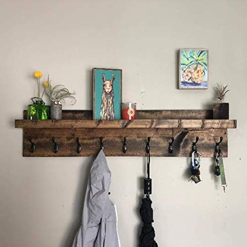Coat Rack with Shelf (Choose your Length) Entryway Organizer