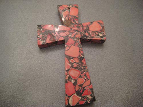 Mosaic Red Magnesite Large Cross Pendant 1 ()