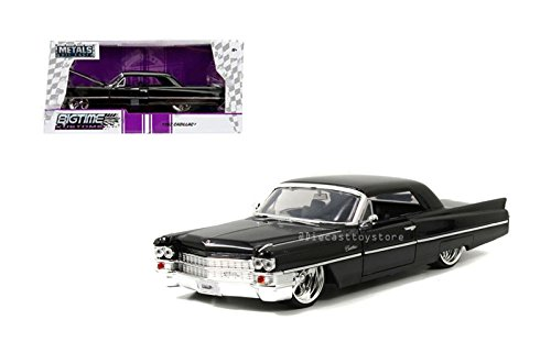 Cadillac Diecast Models - Jada 1:24 W/B Metals Bigtime Customs 1963 Cadillac Black Diecast Vehicles