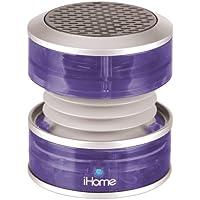 iHome 3.5mm Aux Portable Speaker (Purple Translucent)