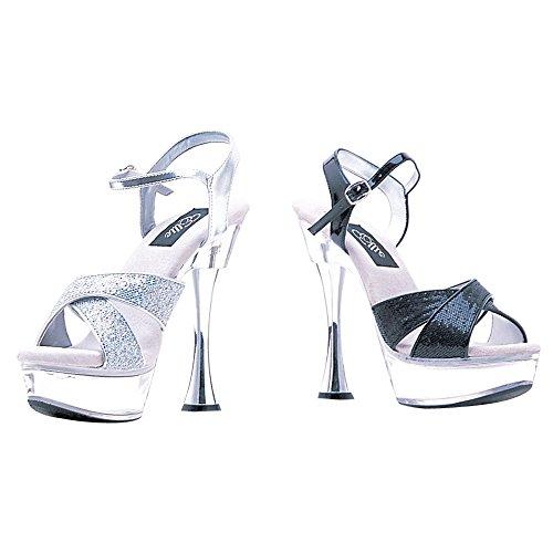 Ellie Shoes Womens C-Janie Platform Sandal Black Glitter zCrgsFuGDK