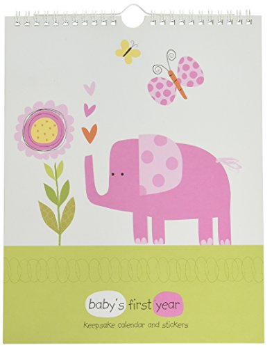 Pepper Pot Baby's First Year Keepsake Calendar, Jungle Friends