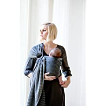 Moby Ring Sling Jet Ribbons - Great for On-The-Go, Fully-adjustable baby sling, Great for newborns - toddlers