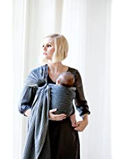 MOBY Ring Sling Carrier for Newborn to Toddler up to 45lbs, Baby Sling from Birth, One Size Fits All, Breathable made from 100% Woven Cotton, Unisex