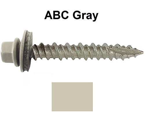 Gray Sheet Rubber (Metal ROOFING SCREWS: (750) Screws x 2