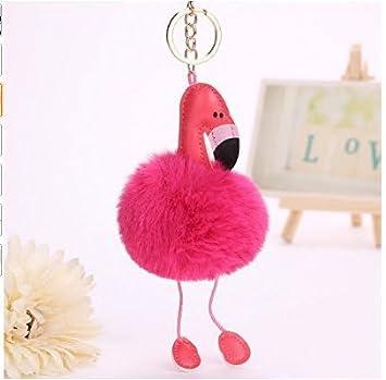 Hot red Handtasche Keychain Pl/üsch Keychain f/ür Auto-Schl/üsselring h/ängende Taschen-Kette J*myi Flamingos Keychain Flamingos Schl/üsselring