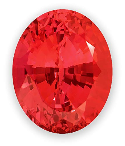 6x4mm Oval Gem Quality Chatham Lab-Grown Padparadscha Weighs .48-.59 Ct, Medium Tone. ()