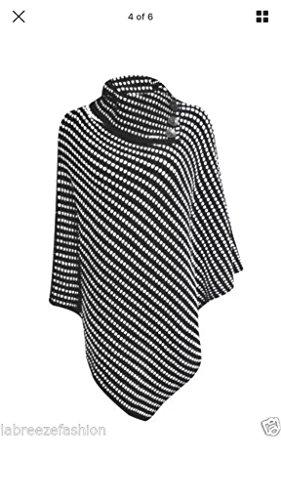 Ponchos - Poncho - para mujer Black-White Dots