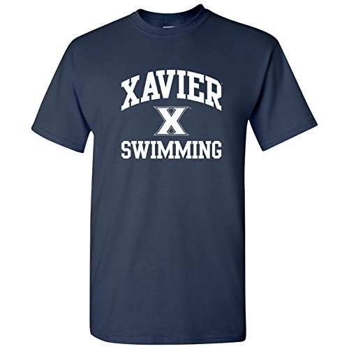 UGP Campus Apparel AS1102 - Xavier Musketeers Arch Logo Swimming T Shirt - Small - Navy
