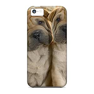 Snap-on Case Designed For Iphone 5c- Two Shar Pei Pups