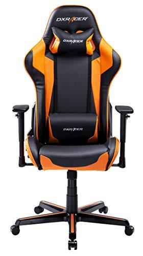 DXRacer USA Formula Series FH00 Gaming Chair Computer Chair Office Chair Ergonomic Design Swivel Tilt Recline Adjustable with Tilt Lock, Includes Headrest Pillow and Lumbar Cushion (Orange)