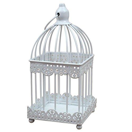 Hosaire Romantic Moon Square Birdcage Iron Candlestick Desktop Decorative Ornaments Home Decoration]()
