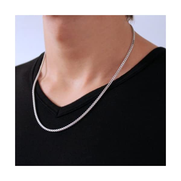Solid-Sterling-Silver-Square-Franco-Chain-Necklace-18-20-22-24-26-28-30