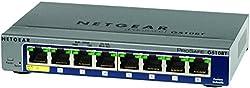 Netgear ProSafe GS108 8 Port Gigabit Ethernet Desktop Switch 8 x 10/100/1000Base-T