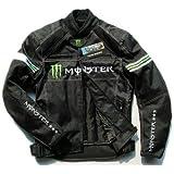 YAMAHA メンズ モンスターエナジー 3シーズン ライダースジャケット ブラック M