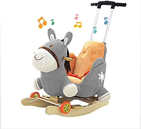 JTYX Cunas mecedoras para niños con música bebé Silla Mecedora Animal Caballo Mecedora Regalo de cumpleaños de los niños