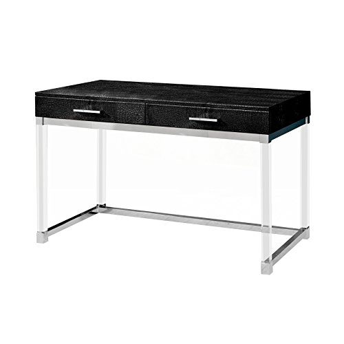 HOMES: Inside + Out IDF-DK6090BK Barrilium Crocodile Textured Desk