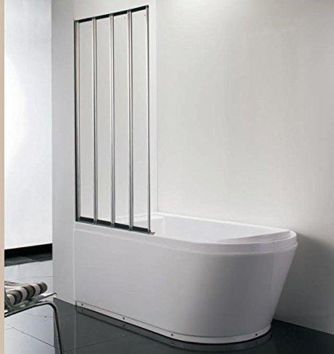 800mm Modern Pivot Folding Bath Shower Glass Screen Reversible Door Panel