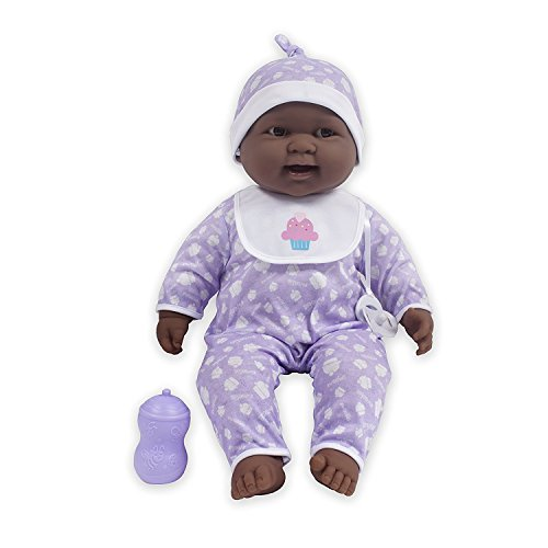 Search : JC Toys Lots to Cuddle Babies African American 20-Inch Purple Soft Body Baby Doll and Accessories Designed by Berenguer