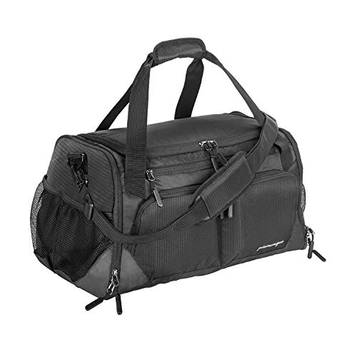 Gym Bag, Sports Duffle Bag with Shoes Compartment & Wet Pocket for Men Women, 35L