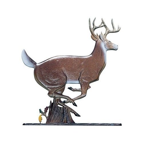 - Whitehall Products Buck Weathervane, 30-Inch, Rooftop Black