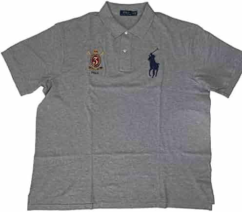 7c61237f159a94 Polo Ralph Lauren Men's Classic Fit Big Pony Big Tall Short Sleeve Mesh  Polo Shirt