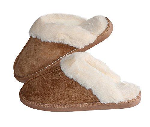 Sosushoe Women Slippers Fluffy Fur Slip On House Slippers