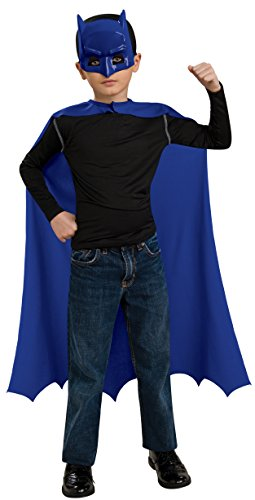[Rubies Batman The Brave and Bold Child's Cape and Mask Set] (Kids Batman And Robin Costumes)