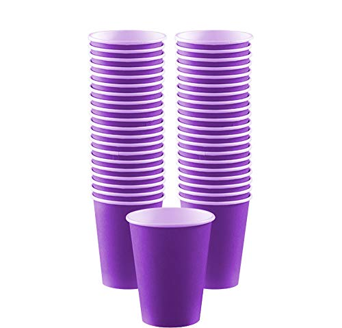 (Big Party Pack Paper Coffee Cups | 12 oz. | New Purple | Pack of 40 | Party Supply)