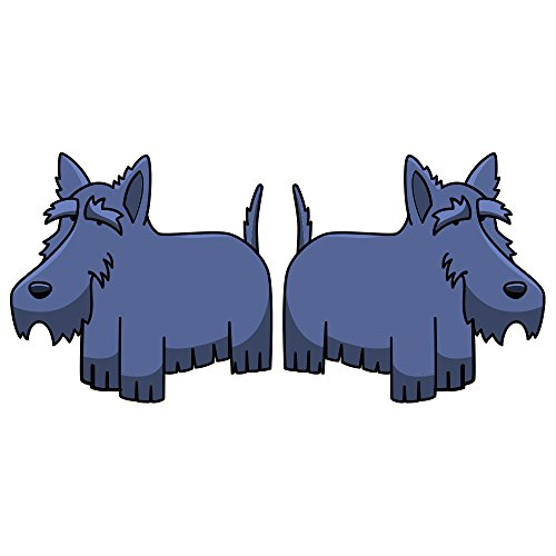 Scottish Terrier Decal | Indoor/Outdoor | Dog Lover Super Cute Sticker for SUV Windows, Dorm Rooms, Bedroom, Offices | SignMission Personalized Gift | 2 Pack of 6