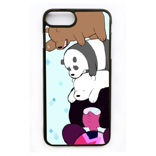 Coque,Apple Coque iphone 7 Plus (5.5 pouce) Case Coque, Generic We Bare Bears Chloe Cover Case Cover for Coque iphone 7 Plus (5.5 pouce) Noir Hard Plastic Phone Case Cover