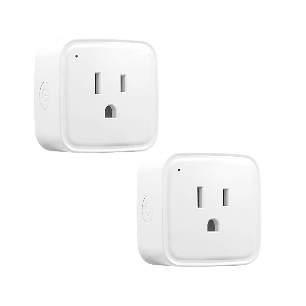 Alexa Smart Plug WiFi Outlets Work with Alexa Echo, Mini Wireless Socket Timer for Voice Remote Controlling Your Home by One APP - 2 Pack