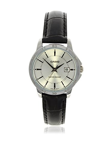 Casio Women s LTP-V004L-7A Genuine Leather Band Analog Watch