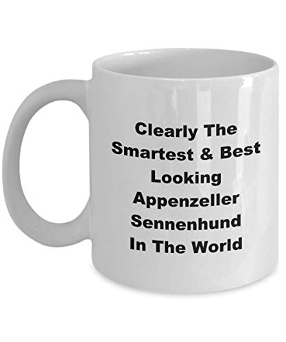 Clearly The Smartest Best Looking Appenzeller Sennenhund In The World Funny Novelty Coffee Cup Mug Gift Idea Stocking Stuffer 1