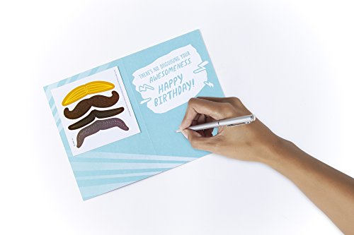 Hallmark Birthday Greeting Card for Boy (Mustache Stickers) Photo #3