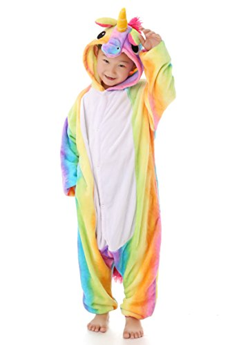 8 Yrs. Yutown Kids Unicorn Costume Animal Onesie Pajamas Children Halloween Gift Rainbow 140